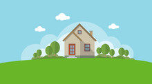 Vector Illustration Of A House...