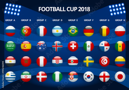 Fotografiet  Football 2018, Europe Qualification, all Groups