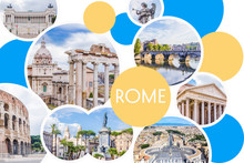 Photo Collage Of Sunny Rome - ...