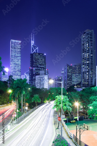 Skyline of skyscrapers from the intersection of Cotton Tree Drive and Garden Roa Poster