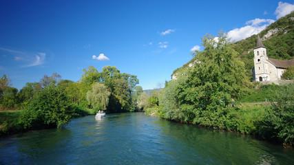 Fototapeta na wymiar canal de savières - chanaz