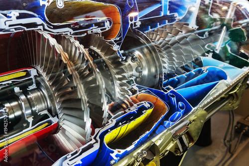 Turbine Engine Profile. Aviation Technologies.