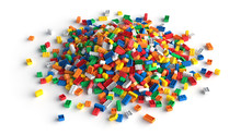 Pile Of Colored Toy Bricks Iso...