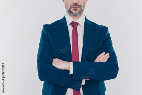Fotografie, Tablou Occupation career leader leadership collar concept