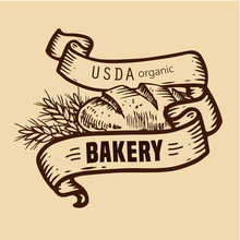 Bread Logo With Ribbons