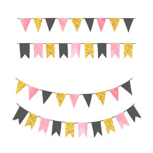 Set Of Bunting Party Flags. Ve...