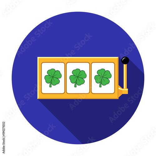 Four-leaf clover slot reels icon vector illustration плакат