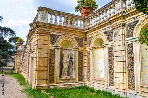 Fotografie, Obraz  Fragment of Villa Doria Pamphili, Roma
