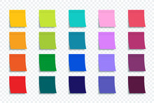 Colorful Stickers Set Isolated On Transparent Background. Stickers. Vector Colorful Stickers For Advertising Design