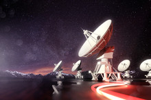 Radio Telescopes Searching For...