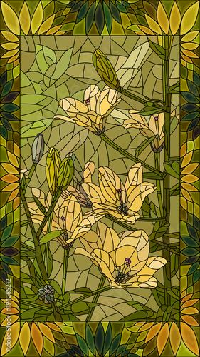 ilustracji-wektorowych-kwiaty-zolte-lilie