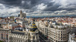 View over the city of Madrid in Spain