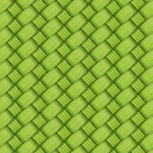 Bamboo Green Weave Texture And Background Vector