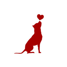 Dog With Heart Vector Illustra...