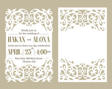 Luxury Invite Card. Laser Cutt...