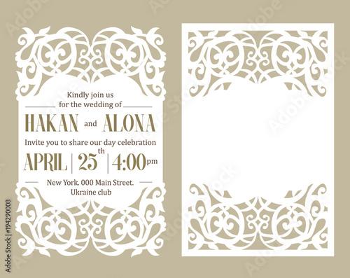 Fényképezés Luxury invite card
