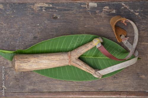 Vászonkép slingshot or catapult