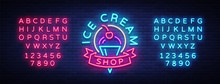 Ice Cream Shop Neon Sign. Ice ...