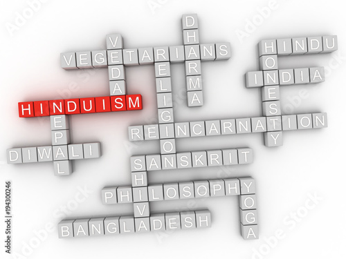 3d Imagen Hinduism Word Cloud Sign Buy This Stock Illustration