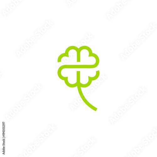 Stampa su Tela vector clover logo design download template graphic