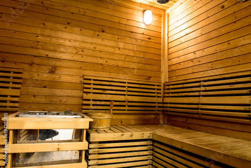 Poster Bibliotheque Sauna room for health