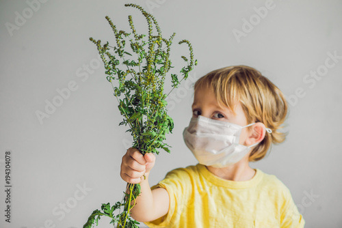 The boy is allergic to ragweed Canvas Print