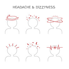Set Of Headache And Dizziness ...