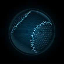 Vector Image Of A Baseball Bal...