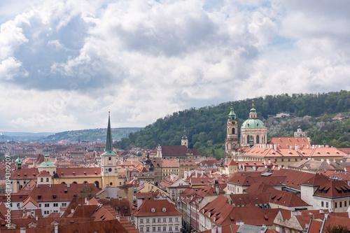 Staande foto Praag Aerial View of Prague, Czech Republic.