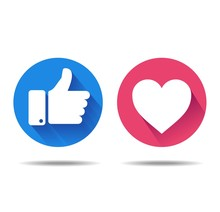 Thumbs Up And Heart Icon On A ...