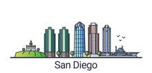 Banner Of San Diego City In Fl...
