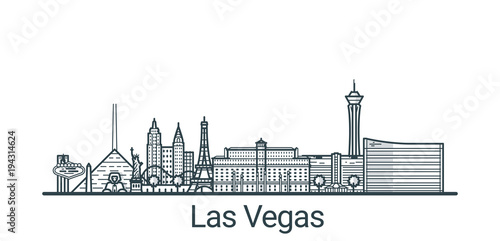 Photo  Linear banner of Las Vegas city