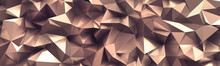3d Render, Abstract Rose Gold ...