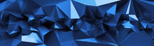 3d Render, Abstract Blue Cryst...