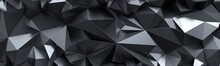 3d Render, Abstract Black Crys...