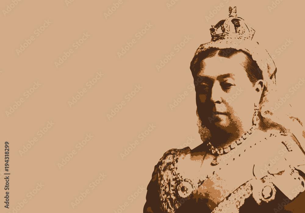 Fototapety, obrazy: Reine Victoria - reine - portrait - reine d'Angleterre - personnage historique - Britannique - Royaume-Uni