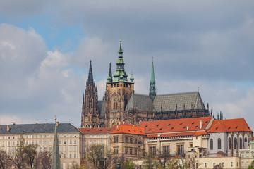 Prague castle and St. Vitus Cathedral in Prague, Czech Republic