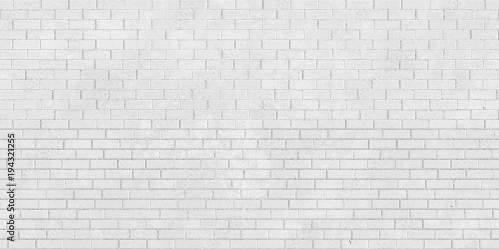 Fototapeta White brick wall seamless texture