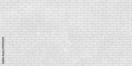 White brick wall seamless texture - 194321255