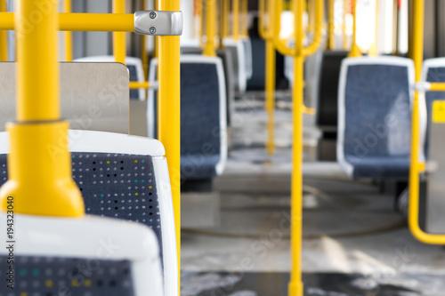 Photo  manchester metrolink tram  interior subway train