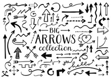 Collection Of Hand Drawn Arrow...