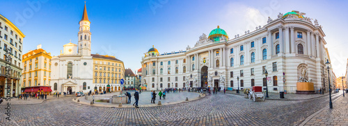 Foto op Canvas Oude gebouw Royal Palace of Hofburg in Vienna, Austria