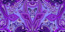 Abstract Violet Paisley Patter...