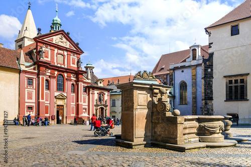 Fotobehang Praag St. George's Basilica. Prague, Czech Republic