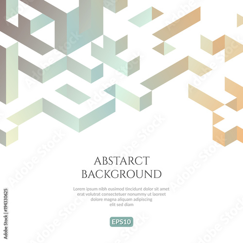 Abstact background in isometric style Wallpaper Mural