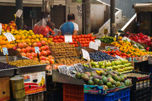 Local Fruit And Vegetable  Market In Athens Greece