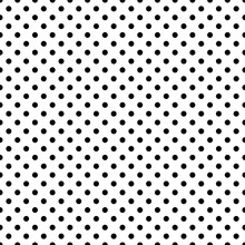 Polka Dot Seamless Pattern. Endless Background From Circles