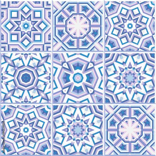 Foto  Portuguese floor tiles design, seamless pattern