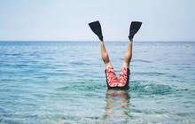 Fun At The Sea. The Male Legs ...