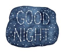 """Good Night"" Inspirational Phr..."